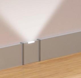 Baccianini pavimenti battiscopa alluminio led