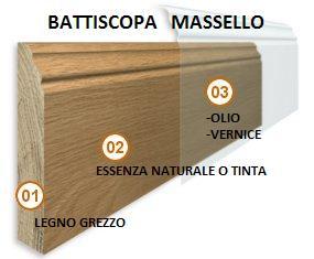 Baccianini pavimenti battiscopa in legno massello